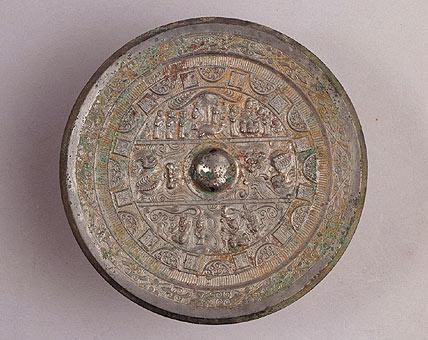 各朝代古铜镜图片_汉三段区段式神兽镜 - 搜狗百科