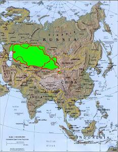 世界哈萨克人分布图-哈萨克