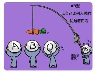 性格 Ab 型 女子