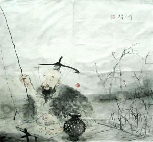 【原创】渔翁 - 白猿 - 沙海尘埃