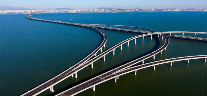 胶州湾大桥胶州连接线或年底通车,胶州融入青岛半小时生活圈