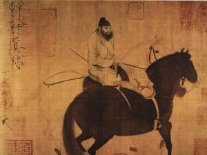 唐 韩干《牧马图》