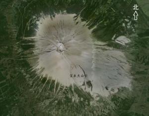 宝永山位置示意图