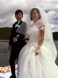 谢娜结婚照