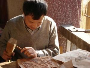 杭州雕版印刷传承人 黄小建师傅
