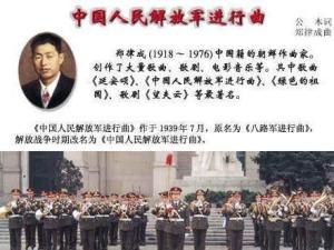 中国人民解放军进行曲作曲者简介