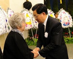 胡锦涛在钱学森追悼会上